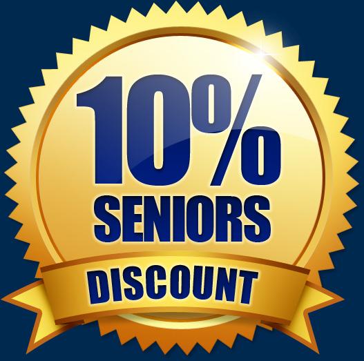 10% Seniors Discount
